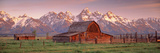 Barn Grand Teton National Park WY USA 写真プリント : パノラミック・イメージ(Panoramic Images)