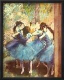 Tänzerinnen in Blau, ca. 1895 Kunst von Edgar Degas