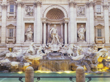 Trevi Fountain Rome Italy Photographic Print by  Panoramic Images