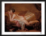 Fille allong&#233;e Affiches par Francois Boucher