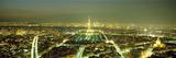 City Lit Up at Dusk, Eiffel Tower, Paris, Ile-De-France, France Photographic Print by  Panoramic Images