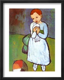 Child with a Dove, c.1901 Prints by Pablo Picasso