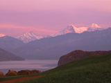 Switzerland, Bernese Alps, Lake Thun Fotografisk tryk af Panoramic Images,