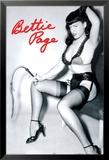 Bettie Page Whip Kunstdrucke