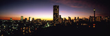 Buildings in a City Lit Up at Night, Johannesburg, South Africa Fotografisk tryk af Panoramic Images