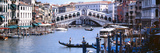 Bridge across a River, Rialto Bridge, Grand Canal, Venice, Italy Photographic Print by  Panoramic Images