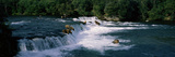 Bears Fish Brooks Fall Katmai AK Photographic Print by  Panoramic Images
