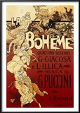 La Boheme, Musica di Puccini Poster by Adolfo Hohenstein