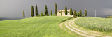 Farmhouse and Cypress Trees in a Field, Pienza, Val D'Orcia, Siena Province, Tuscany, Italy Photographic Print by  Panoramic Images