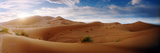 Sahara Desert Landscape at Sunset, Morocco Fotografie-Druck von  Panoramic Images