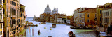 Panoramic Images - Boats in a Canal with a Church in the Background, Santa Maria Della Salute, Grand Canal, Venice,... Fotografická reprodukce
