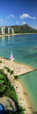 Aerial View of a Beach, Diamond Head, Waikiki Beach, Oahu, Honolulu, Hawaii, USA Photographic Print by  Panoramic Images