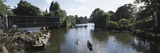 Tourists Boating in a Lake, Uhlenhorst, Hamburg, Germany Photographic Print by  Panoramic Images