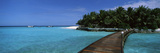 Tourist Resort Viewed Through a Boardwalk, Thulhagiri Island Resort, North Male Atoll, Maldives Photographic Print by  Panoramic Images