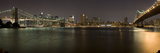 Brooklyn Bridge and Manhattan Bridge across East River at Night, Manhattan, New York City, New Y... Photographic Print by  Panoramic Images
