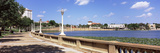 Promenade around a Lake, Lake Mirror, Lakeland, Florida, USA Photographic Print by  Panoramic Images