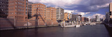 Buildings at the Waterfront, Hafencity, Elbe River, Hamburg, Germany Photographic Print by  Panoramic Images