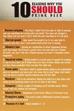 10 Reasons to Drink Beer Alcohol Posters