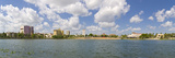 Buildings at the Waterfront, Lake Mirror, Lakeland, Polk County, Florida, USA Photographic Print by  Panoramic Images