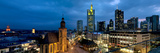 Buildings Lit Up at Night, St. Catherine's Church, Hauptwache, Frankfurt, Hesse, Germany Photographic Print by Panoramic Images