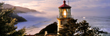 Lighthouse at a Coast, Heceta Head Lighthouse, Heceta Head, Lane County, Oregon, USA Photographic Print by  Panoramic Images