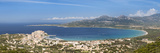 Houses on the Coast, Calvi, Gulf of Calvi, Balagne, Corsica, France Photographic Print by  Panoramic Images