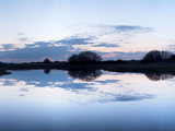 Reflection of Clouds in Water, Holme Dunes, Norfolk, England Photographic Print by  Panoramic Images