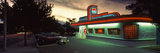 Restaurant Lit Up at Dusk, Route 66, Albuquerque, Bernalillo County, New Mexico, USA Photographic Print by  Panoramic Images