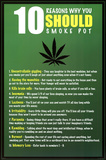 10 Reasons to Smoke Pot Marijuana Poster