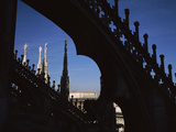 Low Angle View of a Cathedral, Duomo Di Milano, Milan, Lombardy, Italy Photographic Print by  Panoramic Images