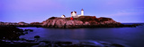 Lighthouse at a Coast, Nubble Lighthouse, Cape Neddick, York, York County, Maine, USA Photographic Print by  Panoramic Images