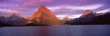 Lake with Mountains at Dusk, Swiftcurrent Lake, Many Glacier, US Glacier National Park, Montana,... Photographic Print by  Panoramic Images