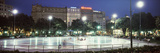 Buildings Lit Up at Night, Placa De Catalunya, Barcelona, Catalonia, Spain Photographic Print by  Panoramic Images