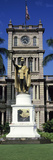 Statue of King Kamehameha in Front of a Government Building, Aliiolani Hale, Honolulu, Oahu, Hon... Photographic Print by  Panoramic Images