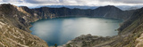 Lake Surrounded by Mountains, Quilotoa Volcanic Crater Lake, Quilotoa, Ecuador Photographic Print by  Panoramic Images