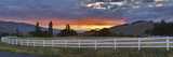Fence in a Field, Ashland, Jackson County, Oregon, USA Photographic Print by  Panoramic Images
