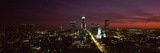 City Lit Up at Night, Indianapolis, Marion County, Indiana, USA Photographic Print by  Panoramic Images