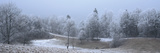 Frozen Trees at Morning in Winter, Combloux, Mont Blanc, Haute-Savoie, Rhone-Alpes, France Photographic Print by  Panoramic Images