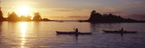 Two People Kayaking in the Sea, Broken Islands, Pacific Rim National Park Reserve, British Colum... Photographic Print by  Panoramic Images