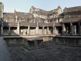 Courtyard of a Temple, Angkor Wat, Angkor, Cambodia Photographic Print by  Panoramic Images