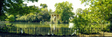 Reflection of Trees in a Garden, Temple of Aesculapius, Villa Borghese, Rome, Italy Photographic Print by Panoramic Images