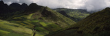 High Angle View of Terraced Fields, Andes, Ecuador Photographic Print by  Panoramic Images