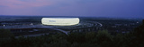Soccer Stadium Lit Up at Nigh, Allianz Arena, Munich, Bavaria, Germany Photographic Print by Panoramic Images