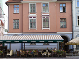 People at a Restaurant, Old Town, Riga, Latvia Photographic Print by  Panoramic Images