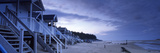 Beach Huts at Dusk, Wells Beach, Wells-Next-The-Sea, Norfolk, England Photographic Print by  Panoramic Images