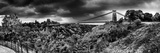 Dark Clouds over a Suspension Bridge, Clifton Suspension Bridge, Bristol, England Photographic Print by  Panoramic Images