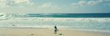 Panoramic Images - Surfař stojící na pláži, severní pobřeží ostrova Oahu, Havaj, USA Fotografická reprodukce