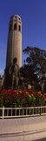 Statue of Christopher Columbus in Front of a Tower, Coit Tower, Telegraph Hill, San Francisco, C... Photographic Print by Panoramic Images 