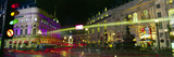 Buildings Lit Up at Night, Piccadilly Circus, London, England Photographic Print by  Panoramic Images
