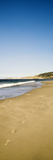 Footprints on the Beach, Santa Rosa Island, Channel Islands National Park, Santa Barbara County,... Photographic Print by  Panoramic Images